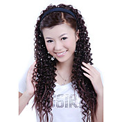 Synthetic Long Curly Brown 3/4 Headband Hair Hairpiece