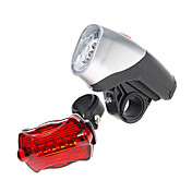 Komplettes Bike LED Licht Set mit 5 LED vorne + 6 LED hinten