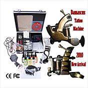 Damascus Handmade 2 Tattoo Machines Kit with Superior LED Power Supply