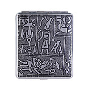Mysterious Egyptian Glyphs Metal Cigarette Case (Holds 18)
