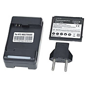 Adaptador de corriente USB + 3.7v 1350mAh batería de litio para HTC HD2 (100-240v)