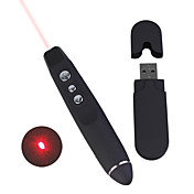 USB Wireless Presentation Remote Page Turner Laser Pointer (1xAA)