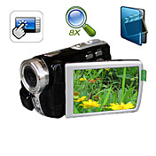 5MP cmos @ 30fps 8xdigital zoom videocamera digitale con 3,0 pollici touch screen av Funzione (DV-592ii)