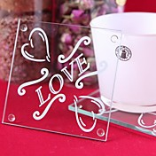 LOVE Design Glass Coasters (Set of 2)