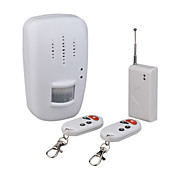Independently Wireless Infrared Motion Detecting Alarm And Door/Window Alarm System With 2x Remote Controls