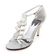 Satin Upper High Heel Strappy Sandals Wedding Bridal Shoes