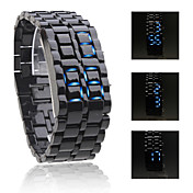 Cobra Udgave Unisex Sport Bl LED Faceless Armbndsur (Sort)