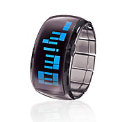 Armbnds Design Futuristisk Bl LED Armbndsur - Sort