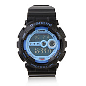 Waterproof Sports Automatic Watch with Night Light - Blue