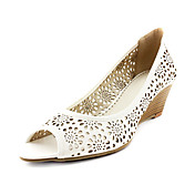 PU Upper Low-Heel Peep-toes Hollow-out Wedding/ Party Shoes.More Colors Available