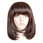capless schulterlangen Bestnote Qualitt synthetischen chocolate brown bob Stil morden Percke