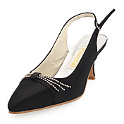 Satin Upper Stiletto Heel Slingbacks Wedding Shoes More Colors Available