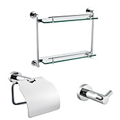 3-Piece Chrome Finished Bathroom Accessory Set