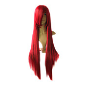 Capless Long Top Grade Quality Synthetic Wine Costume Party Wig