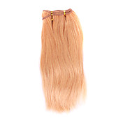 100% Indian Remy Hair 12&quot; Machine Made Silky Straight Weft 26 Colors To Choose