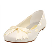Satin Upper Flat Heel Closed Toe With Bowknot Wedding/ Honeymoon Shoes More Colors Available
