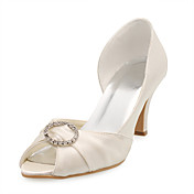 FELECIA - Peep Toe Bryllup Stilletthler Satin