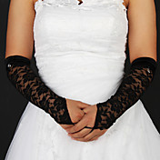 Lace/ Voile Fingerless Elbow Length Party/ Evening Gloves