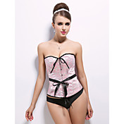 Damask Front Busk Closure Corsets Strapless Special Occasion Shapewear