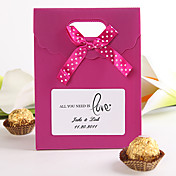 "Personalized Favor Bag With Ribbon – ""All You Need Is Love"" (Set of 12)"