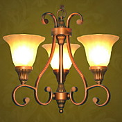Elegant Chandelier with 3 Lights in Classic Style