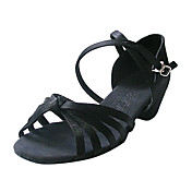 Satin Upper Ballroom Practice Dance Shoes Latin Shoes for Women/Kids More Colors