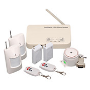 9 Wireless Guarding Zones GSM Alarm System + Wireless Keyboard with 4 Sensor