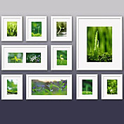 White Photo Wall Frame Collection - Set of 10