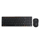 RAPOO e9060 inalmbrica ultra-delgado de 101 teclas del teclado y el ratn (negro)