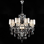 lustre de cristal com 9 luzes luxuriante
