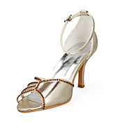 Leatherette Upper Stiletto Heel Peep Toe With Rhinestone Wedding Shoes More Colors Available