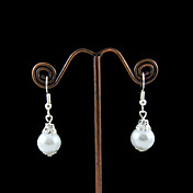 Fabulous Imitation Pearls With Alloy Plating Bridal Earrings