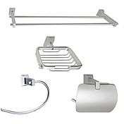 Aluminum 4-piece Bathroom Accessory Set (1041-LES-6602+6607+6608+6609)