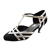 Customize Performance Dance Shoes Leatherette/ Velvet Upper Modern Shoes for Women