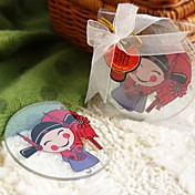 Asia Traditions Round Wedding Coasters (Set of 2)