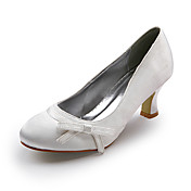 Satin Upper Mid Heel Closed-toes Evening Party Shoes/ Special Occasion Shoes.More Colors Available