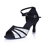 Satin/ Sparkling Glitter Upper Dance Shoes Ballroom Latin Shoes for Women