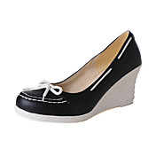 Leatherette Platform Wedge Heel With Bow Casual Shoes (More Colors)