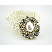 Ladies'Rhinestone Bracelets In Imitation Pearl