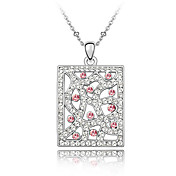 45-cm Square Austrian Crystal Necklace