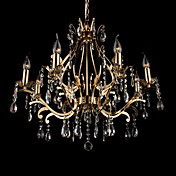 Crystal Chandelier with 8 Lights in Golden