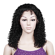 Lace Front With Adjustable Strap At Back Jerry Curl 14 inch Indian Remy Lace Wig 26 Colors Available