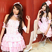 Princess Series Cute Pink Polyester Costume (4 Pieces)