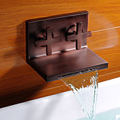 Antique Oil Rubbed Bronze Waterfall Bathroom Sink Faucet