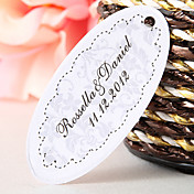 Personalized Oval Favor Tag – Elegant (Set of 60)