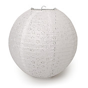12&quot; White Eyelet Paper Lantern