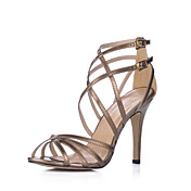Leatherette Stiletto Heel Sandals (More Colors)