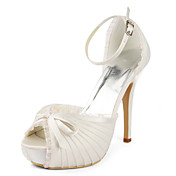 Satin Stiletto Heel Platform /Pumps With RufflesWedding Shoes(More Colors)