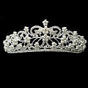 Alloy With Rhinestone And Pearl Nature Bridal Tiara