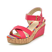 Leatherette Wedge Heel Sandals / Wedges With Buckle Casual Shoes (More Colors Available)
